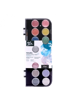 Large mont marte signature metallic watercolour set 17 pc pmhs0091 v01 cn f