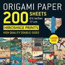 Origami Paper 200 Sheets Japanese Hiroshige Prints 6. 75 - Tuttle Origami Paper: High-Quality Double Sided Origami Sheets Printed with 12 Different Prints (Instructions for 6 Projects Included)