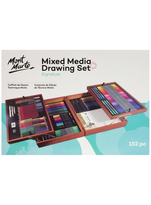 Large mont marte signature mixed media drawing set 152 pc mmgs0041 v01 f