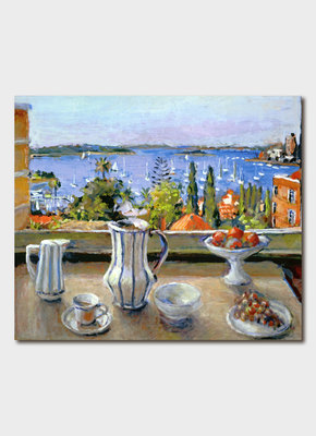 Large maleny bookshop bip 2070 still life and harbour view