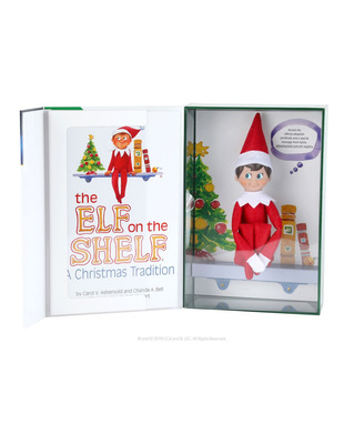 Elf on the Shelf Boy Light Doll with Book: A Christmas Tradition