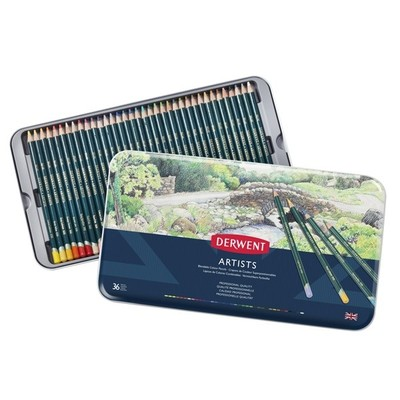 Derwent Artist Pencils - Tin of 36 0364040