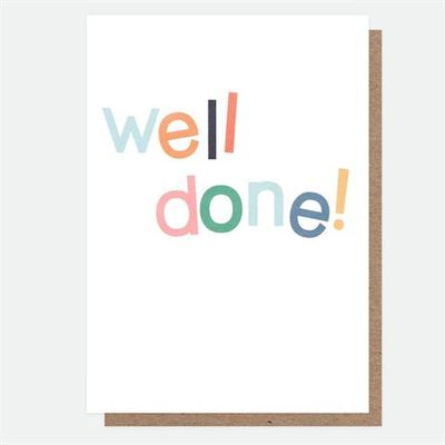 Card - Well Done MIX006