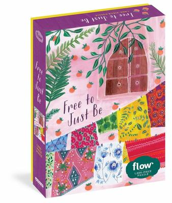 """Free to Just Be 1,000-Piece Puzzle: (Flow) for Adults Families Picture Quote Mindfulness Game Gift Jigsaw 26 3/8"""" x 18 7/8"""""""
