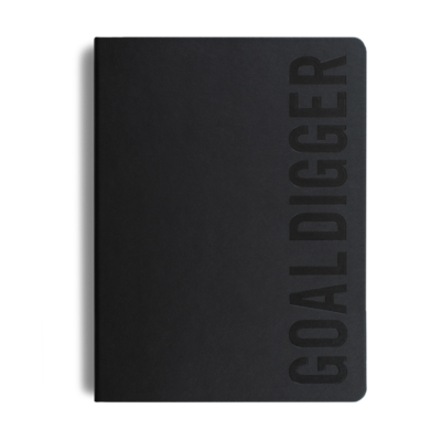 MiGoals 2021 BLACK Bold Goal Digger Diary - Weekly Action B5 - Soft Cover