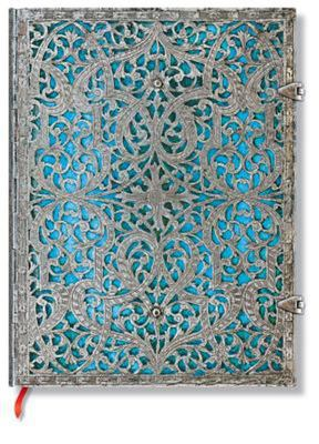 Paperblanks Journal - Silver Filigree Maya Blue (Ultra Lined_