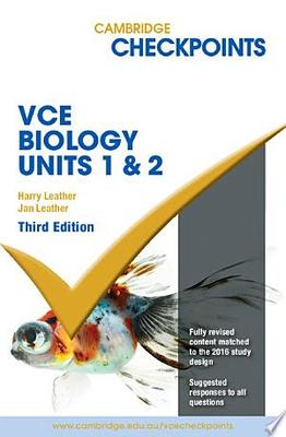 Cambridge Checkpoints VCE Biology Units 1 and 2
