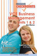 Cambridge Checkpoints VCE Business Management Units 1 And 2