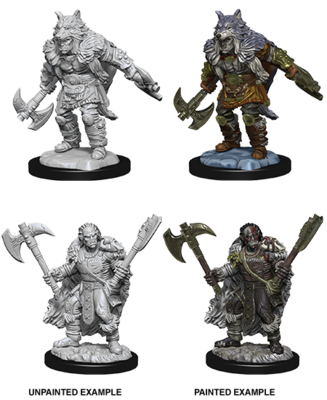 Male Half-Orc Barbarian D&D Nolzurs Marvelous Unpainted Miniatures