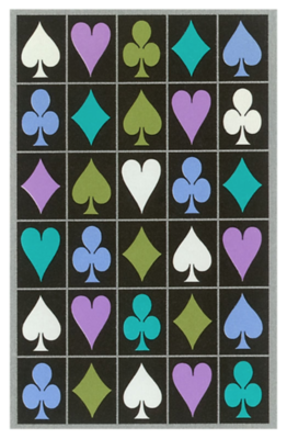70s Playing Card Suit Greeting Card
