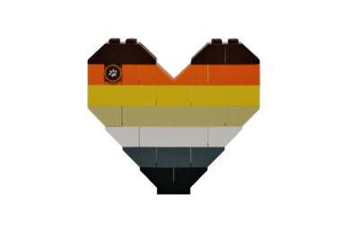 BrickNetty Pride Heart - Bear