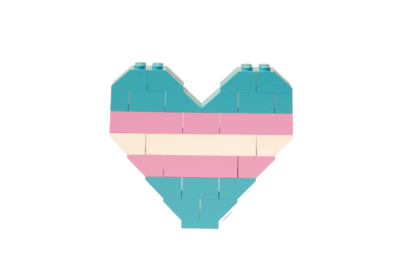 BrickNetty Pride Heart- Trans