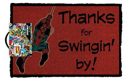Spiderman Thanks for Swinging By -Doormat Marvel Comics