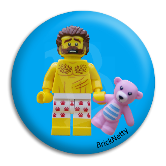 Badge - BrickNetty Bear Man