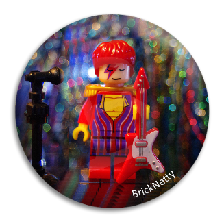 Badge - BrickNetty David Bowie