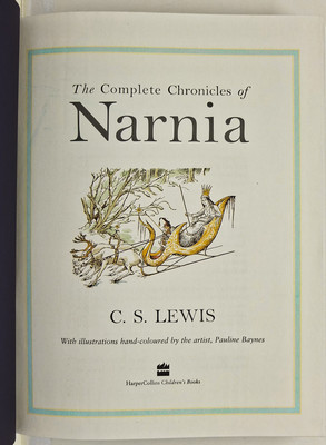 The Complete Chronicles of Narnia with illustrations hand-coloured by the artist
