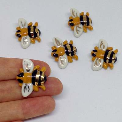 Bee Brooch Jennifer Orland Porcelain