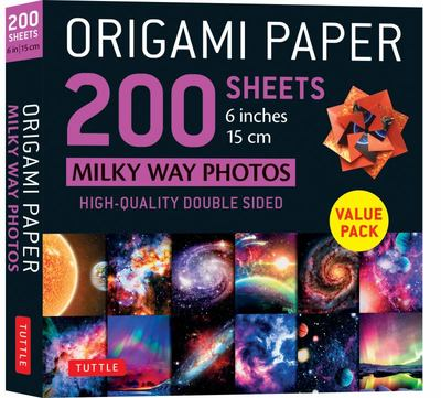 Origami Paper 200 Sheets Milky Way Photos 6 (15 Cm) - Tuttle Origami Paper: High-Quality Double Sided Origami Sheets Printed with 12 Different Photographs (Instructions for 6 Projects Included)