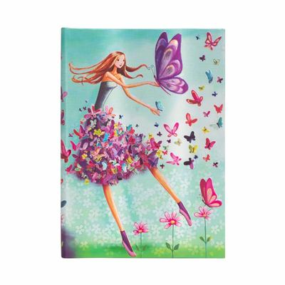 Mila Marquis, Summer Butterflies, Midi, Lined - Hardcover, 120 Gsm, Ribbon Marker, Pouch, Elastic Closure