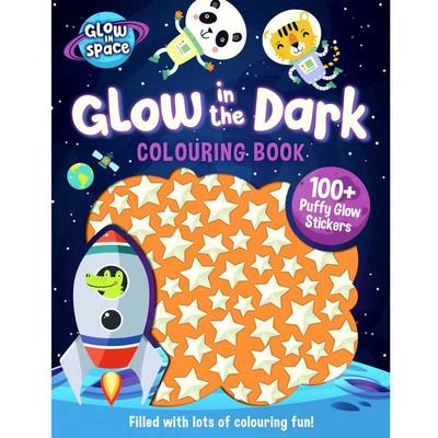 Glow in the Dark Colouring Book with Puffy Glow Stickers