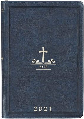 2021 Executive Planner John 3:16 Navy Zip