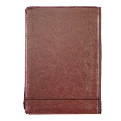 2021 Executive Planner Stand Firm Brown Zip