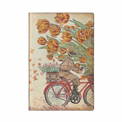 Paperblanks Journal -  Spring, Mini, Lined, Flexi - Flexi Softcover, 80 Gsm, Ribbon Marker, Pouch, Book Edge Printing