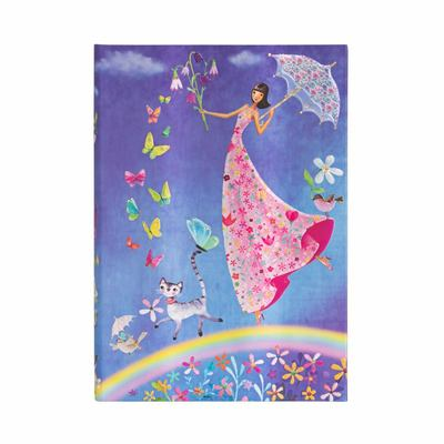 Mila Marquis, Spring Rainbow, Midi, Lined - Hardcover, 120 Gsm, Ribbon Marker, Pouch, Elastic Closure