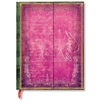 Paperblanks Journal - , Emily Dickinson, I Died for Beauty, Ultra, Unlined - Hardcover, Wrap Closure, 120 Gsm, Ribbon Marker, Pouch