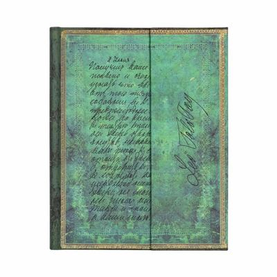 Paperblanks Journal - , Tolstoy, Letter of Peace, Ultra, Lined - Hardcover, Wrap Closure, 120 Gsm, Ribbon Marker, Pouch