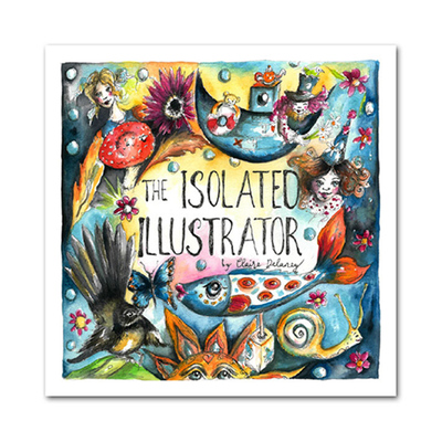 Large the isolated illustrator book 3