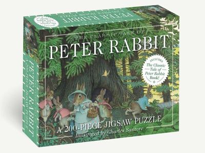 The Classic Tale of Peter Rabbit 200-Piece Jigsaw Puzzle and Book - A 200-Piece Family Jigsaw Puzzle Featuring the Classic Tale of Peter Rabbit!