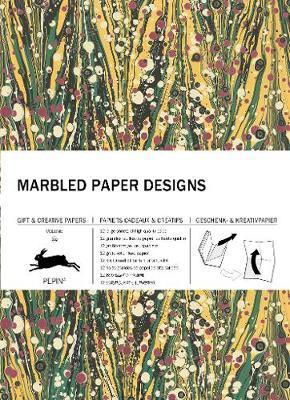 Marbled Paper Design Gift & Wrapping Paper Book