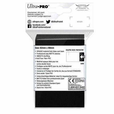 PREORDER - ULTRA PRO Deck Protector Small - Matte 60ct Black ECLIPSE