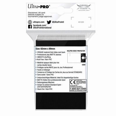 PREORDER - ULTRA PRO Deck Protector Small - Matte 60ct White ECLIPSE