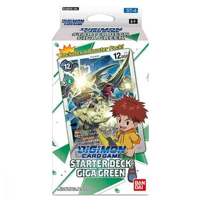 PREORDER [ MAY 7th ] Digimon Card Game Series 04 Starter Deck 04 Giga Green