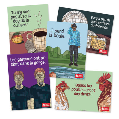 French Idiom Bulletin Board Set