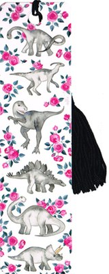 Bookmark - Dinosaurs and Roses