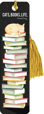 Bookmark - Orange Cat on Books