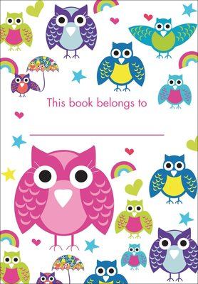 Book Plates - Pink And Purple Owls