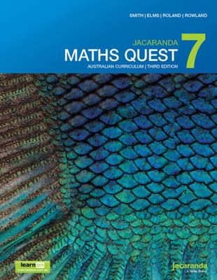 Jacaranda Maths Quest 7 Australian Curriculum 3E LearnON and Print - Wiley