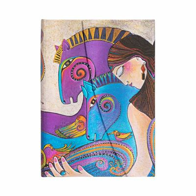Laurel Burch, Maria and Mares, Midi, Unlined - Hardcover, Wrap Closure, 120 Gsm, Ribbon Marker, Pouch