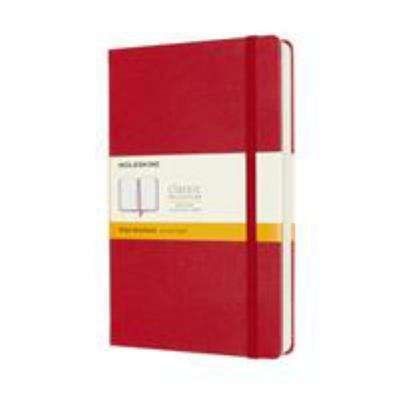 CLASSIC HARD COVER NOTEBOOK EXPANDED - RULED - LARGE - SCARLET RED