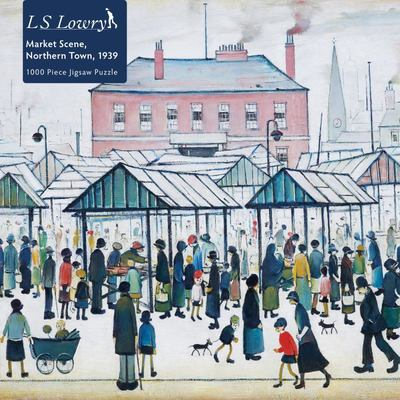 L. S. Lowry: Market Scene, Northern Town 1939 - 1000-Piece Jigsaw Puzzle