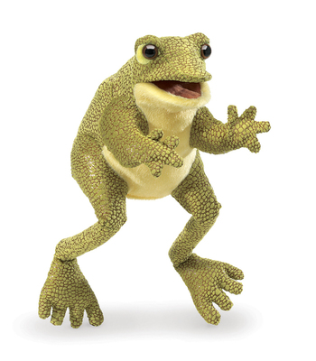 Funny frog puppet
