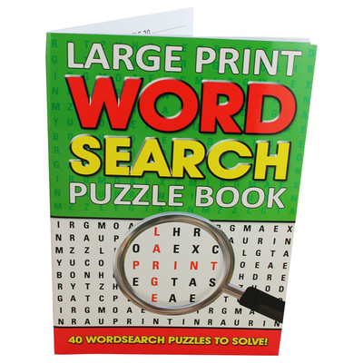 Large large print word search puzzle book  assorted