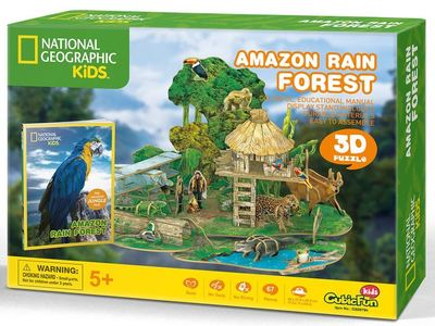 Amazon Rainforest 3D Puzzle & Book (National Geo Kids)