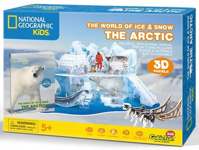The Arctic 3D Puzzle & Book (National Geo Kids)