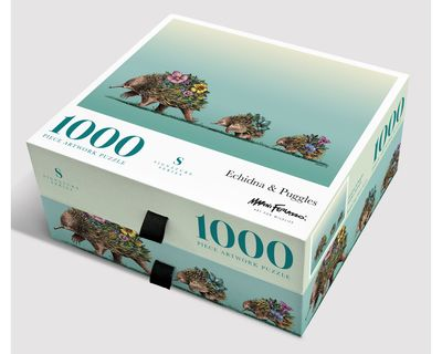 Echidna and Puggles: 1000-Piece Jigsaw Puzzle Signature Series