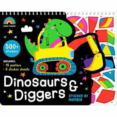 Dinosaurs and Diggers - Sticker By Number